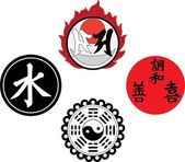 The Asian religious and magic symbols — 图库矢量图片