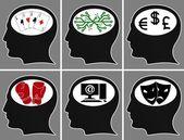 大脑的勒芒 — 图库矢量图片