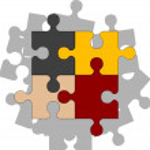 Four puzzle pieces — Stock Vector