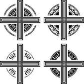 Set of fantasy crosses — Stock Vector