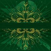 Vector floral banner — Stock Vector