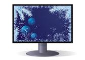 Christmas monitor — Stock Vector