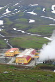 Geothermal power station in Kamchatka — Stock Photo