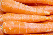 Carrot fresh vegetable group on white background — 图库照片