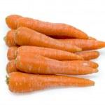 Carrot fresh vegetable group on white background — Stock Photo