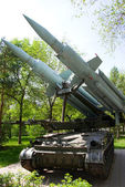 Antiaircraft gun in open-air museum — Stock Photo