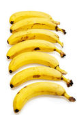 Bananas isolated on the white background — Foto de Stock