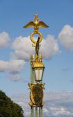 Decorative gilt lantern — Stock Photo