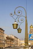 Linternas de oro en san petersburgo — Foto de Stock