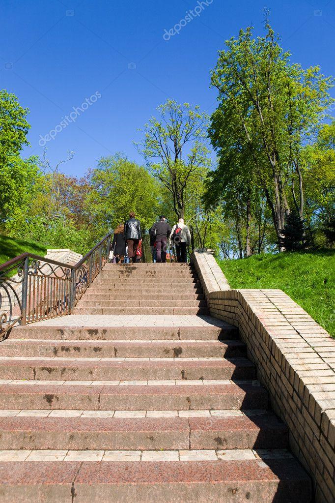 到公园的楼梯