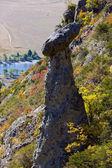 Mountain autumn slope — Stockfoto