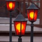 Three lanterns — Stock Photo