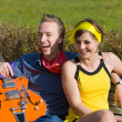 Pair on a bench — Stock Photo #3365793