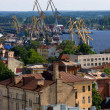 Seaport of Vyborg — Stock Photo