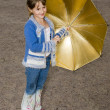 The girl with a umbrella — Stock Photo