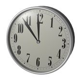 3D retro clock on white — Stock Photo