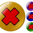 Royalty-Free Stock Vector Image: Red cross button