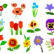 Royalty-Free Stock Vector Image: Vector collection of beautiful flowers