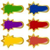 Set of vector colored, long button — Stock Vector
