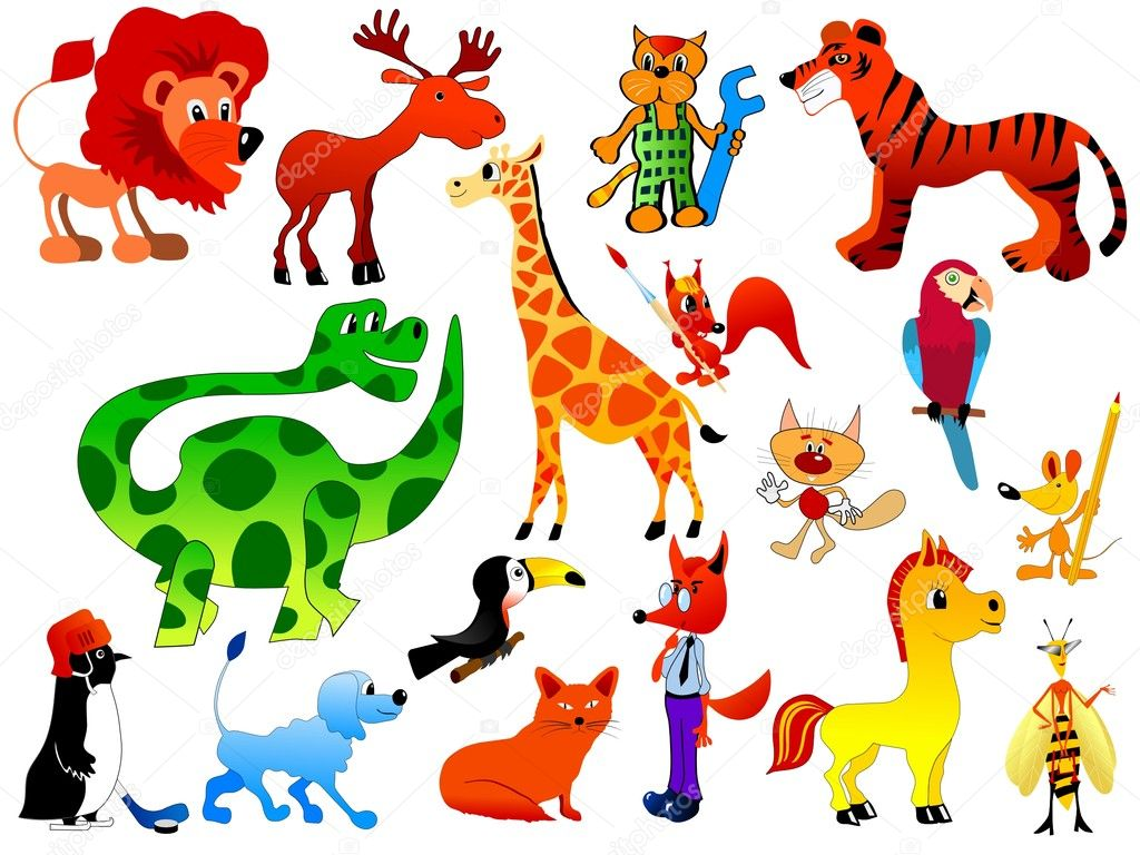 Vector set of funny animals — Stock Vector #2827594