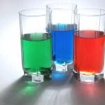 Multicolored drinks — Stock Photo