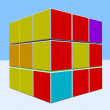 Abstract 3d illustration of cube — Stock Photo