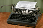 Vintage 1960s Manual Typewriter — Stock Photo