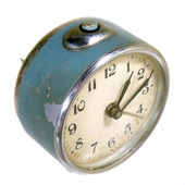 Alarm bell clock on white background — Stock Photo