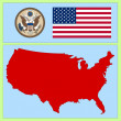 National attributes of USA — Stock Vector