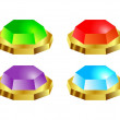 Royalty-Free Stock Vector Image: Set of jewelry buttons