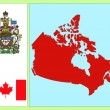 Stock Vector: National attributes of Canada