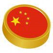 3d button in colors of China — Stock Vector