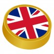 3d button in colors of United Kingdom — Stock Vector