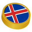 Stock Vector: 3d button in colors of iceland