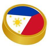 フィリピンの色で 3 d ボタン — ストックベクタ