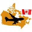 Fly me to the Canada — Stock Vector