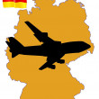 Fly me to the Germany — Stock Vector