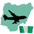 Fly me to the Nigeria — Stock Vector