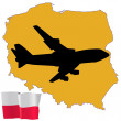 Fly me to the Poland — Stock Vector