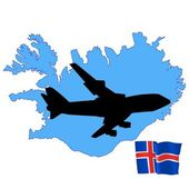 Fly me to the Iceland — Stock Vector
