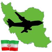 Fly me to the Iran — Stock Vector