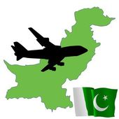 Fly me to the Pakistan — Stock Vector