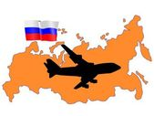 Fly me to the Russia — Stock Vector