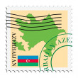 Stock Vector: Mail to/from Azerbaijan
