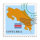 Mail to/from Costa Rica — Stock Vector