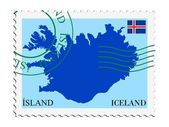 Mail to/from Iceland — Vetor de Stock