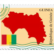 Mail to/from Guinea — Stockvectorbeeld
