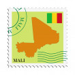 Mail to/from Mali - Stok Vektör
