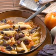 Italian soup with beans and macaroni — Stock Photo