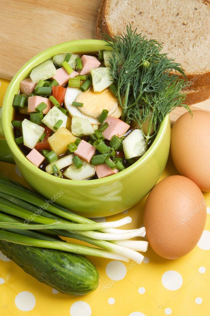 plato vegetariano fr�o � Foto stock � Ravenestling #3894759